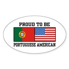 Portuguese American Oval Decal