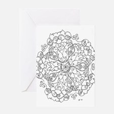 Unique Coloring pages Greeting Card