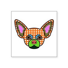 "Chihuahua Pop Art Square Sticker 3"" x 3"""