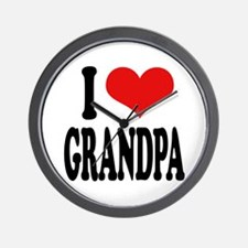 I Love Grandpa Wall Clock