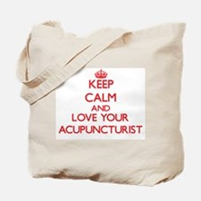 Keep Calm and love your Acupuncturist Tote Bag