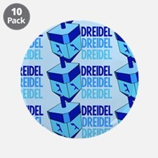 "Dreidel 3.5"" Button (10 pack)"