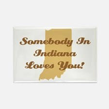Somebody In Indiana Loves You Rectangle Magnet