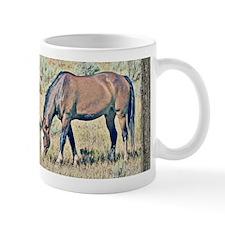 Old window horses Mug