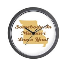 Somebody In Missouri Loves You Wall Clock