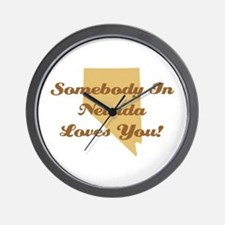 Somebody In Nevada Loves You Wall Clock