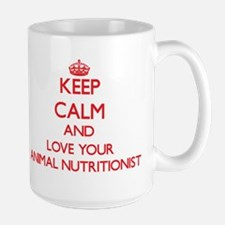 Keep Calm and love your Animal Nutritionist Mugs