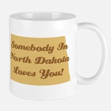 Somebody In North Dakota Loves You Coffee Mug