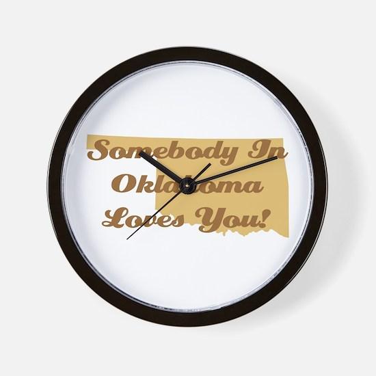 Somebody In Oklahoma Loves You Wall Clock