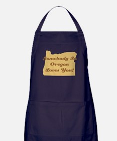 Somebody In Oregon Loves You Apron (dark)