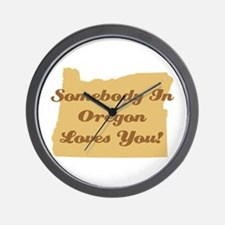 Somebody In Oregon Loves You Wall Clock