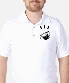 measuring glass Golf Shirt