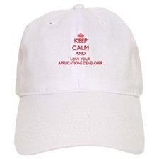 Keep Calm and love your Applications Developer Baseball Cap