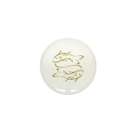...Golden Pisces... Mini Button