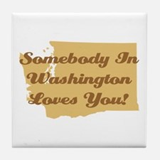 Somebody In Washington Loves You Tile Coaster