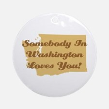 Somebody In Washington Loves You Ornament (Round)