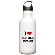 I love Control Towers Water Bottle
