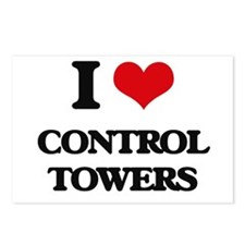 I love Control Towers Postcards (Package of 8)