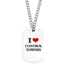 I love Control Towers Dog Tags