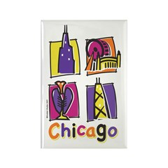 Chicago Kids Rectangle Magnet