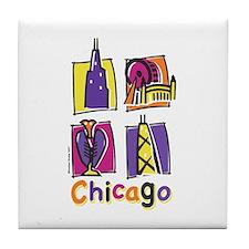 Chicago Kids Tile Coaster