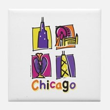 Chicago Kids Tile Coaster
