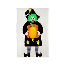 Witch Pumpkin Rectangle Magnet (10 pack)