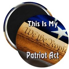 My Patriot Act Magnet