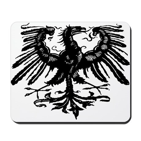 Gothic Prussian Eagle Mousepad