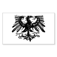 Gothic Prussian Eagle Rectangle Decal