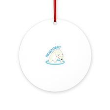 Polar Plunge! Ornament (Round)