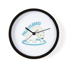 Polar Plunge! Wall Clock