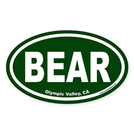 Olympic Valley BEAR Euro Oval Sticker