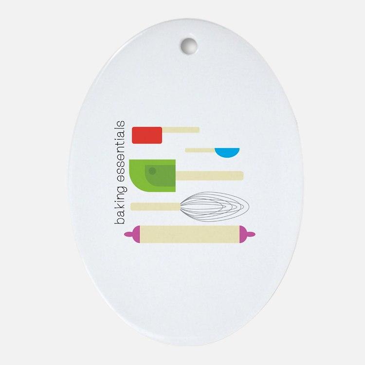 Baking Essentials Ornament (Oval)