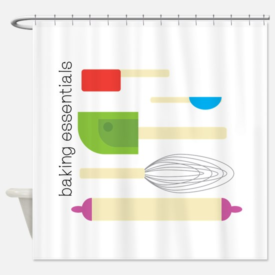 Baking Essentials Shower Curtain