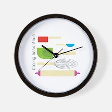 Baking Essentials Wall Clock