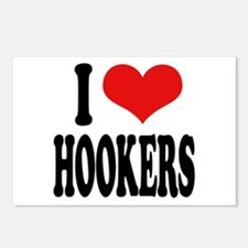 I Love Hookers Postcards (Package of 8)