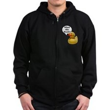 Cute What the duck university Zip Hoodie