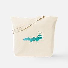 Blue Caterpillar Tote Bag