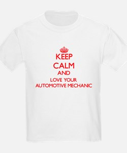 Keep Calm and love your Automotive Mechani T-Shirt