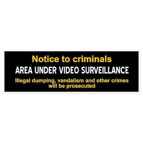 Area Under Video Surveillance sticker