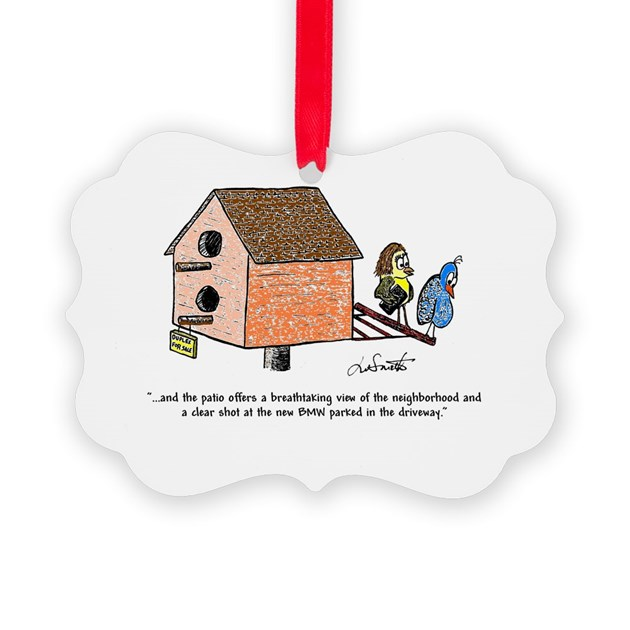 Flippin The Birdhouse Picture Ornament By Waternolemon