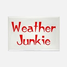 weather junkie Rectangle Magnet