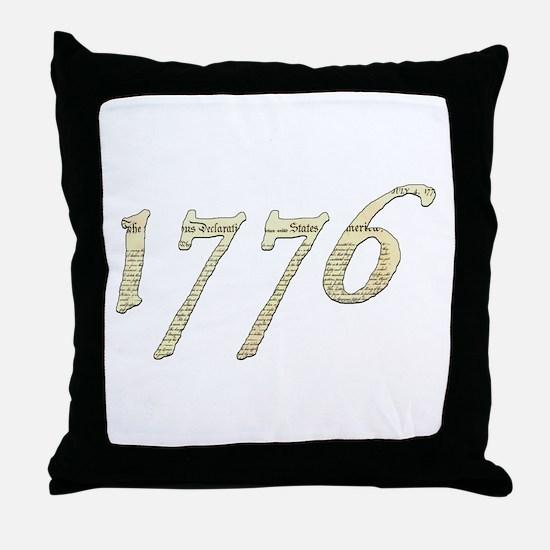 """Independence """"1776"""" Throw Pillow"""