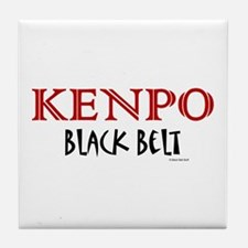 Kenpo Black Belt 1 Tile Coaster