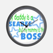 My daddy is a seabee but momm Wall Clock