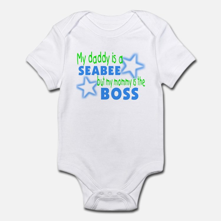 My daddy is a seabee but momm Infant Bodysuit