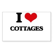 I love Cottages Decal