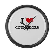 I love Councilors Large Wall Clock