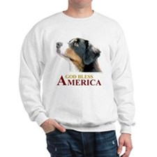 God Bless America Sweatshirt (with Dog)